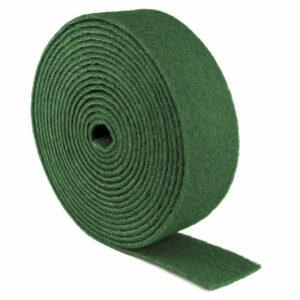 Rouleaux d'atelier nrl bibielle tissu abrasif non tissé vert converti en rouleaux à couper de la longueur désirée, évitant tout gaspillage de matériau.
