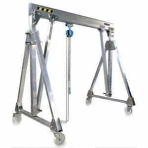 portique aluminium pliables déplaçables en charge PADC