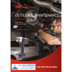 Sélection Mars – Juin 2018 – d'outillage de maintenance sans fil & pneumatique INGERSOLL RAND